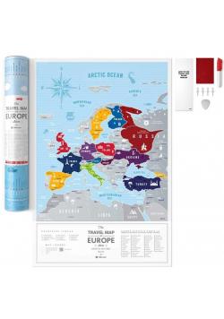 Mapa zdrapka - Travel Map Silver Europe