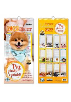 Kalendarz 2022 ścienny planer Psy