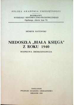 Niedoszła Biała Księga z roku 1940