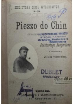 Pieszo do Chin 1899 r.