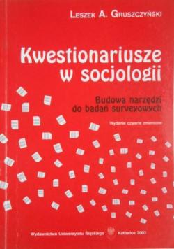 Kwestionariusze w socjologii