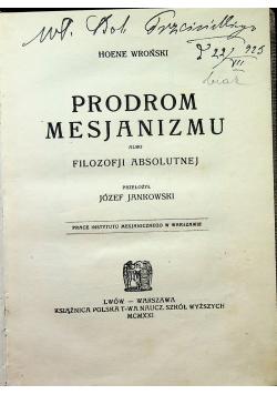 Prodrom mesjanizmu 1921 r