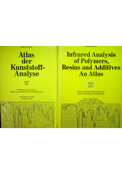 Infrared analysis of polymers resins and additives an Atlas plus Atlas der Kunstsoff Analyse