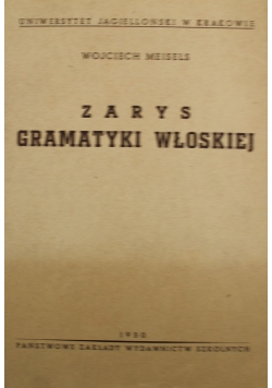Zarys gramatyki włoskiej 1950 r