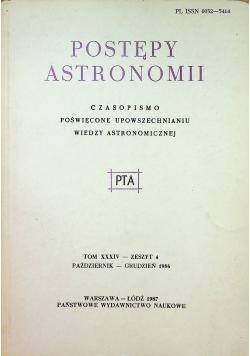 Postępy astronomii tom XXXIV zeszyt 4