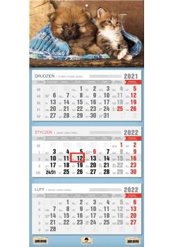 Kalendarz 2022 trójdzielny Przyjaciele
