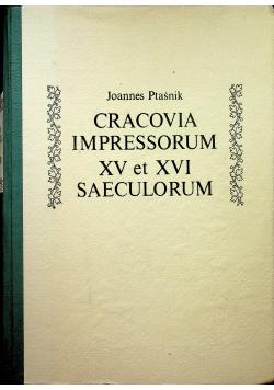 Cracovia impressorum XV et XVI saeculorum reprint z 1922 r.