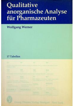 Qualitative anorganische Analyse fur Pharmazeuten