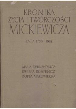Kronika życia i twórczości Mickiewicza