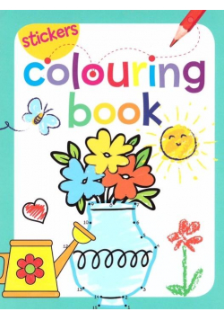 Coloring book z naklejkami kwiaty