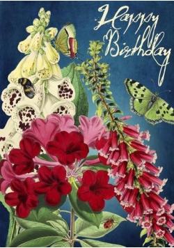 Karnet B6 z kopertą Urodziny Ogród nocą