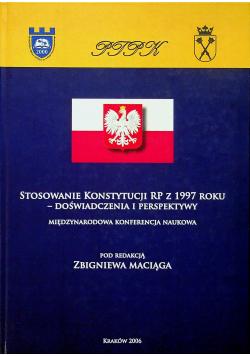 Stosowanie Konstytucji RP z 1997 roku