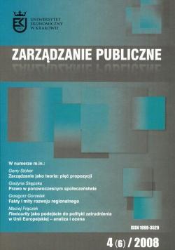 Zarządzanie Publiczne 4(06)/2008