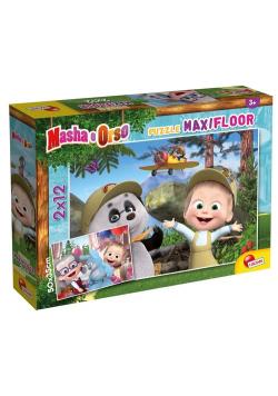 Puzzle MaxiFloor 2x12 Masza i Niedźwiedź