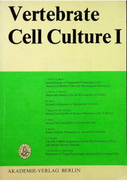 Vertebrete Cell Culture I