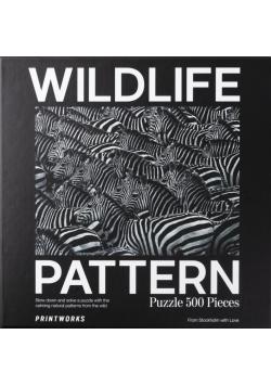 Puzzle 500 Wildlife Pattern Zebra
