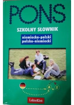 PONS Szkolny słownik niemiecko  polski polsko niemiecki