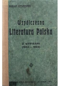 Współczesna Literatura Polska 1923 r.