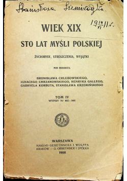 Wiek XIX sto lat myśli polskiej Tom IV 1908 r.