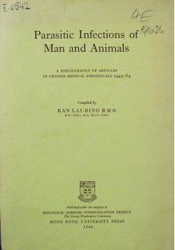 Parasitic Infections of Man and Animals