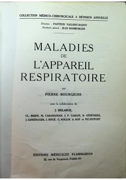Maladies de lappareil respiratoire