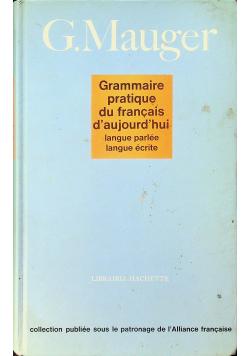 Grammaire Pratique Du Francais d Aujourd Hui