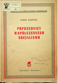 Poprzednicy współczesnego socjalizmu  1949 r