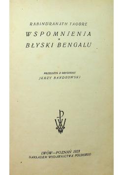 Wspomnienia Błyski Bengalu 1923 r.