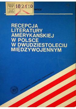 Rcepcja literatury amerykańskiej w Polsce w dwudziestoleciu międzywojennym
