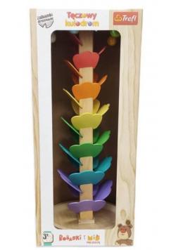 Zabawka drewniana - Tęczowy kulodrom TREFL