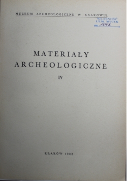 Materiały Archeologiczne VI