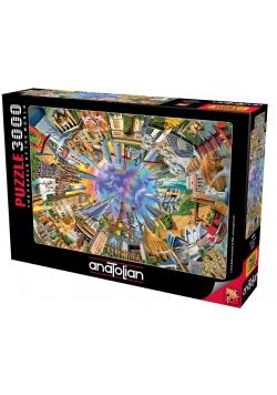Puzzle 3000 Zabytki z całego świata