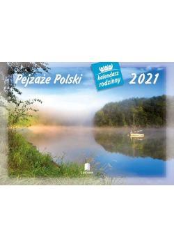 Kalendarz 2021 WL03 Pejzaże Polski Kalendarz rodzinny 5 sztuk