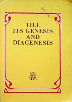 Till its genesis and diagenesis