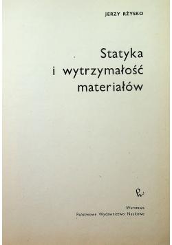 Statyka i wytrzymałość materiałów