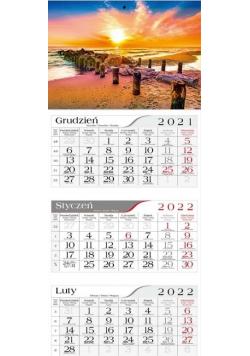 Kalendarz 2022 Trójdzielny Bałtycka plaża CRUX