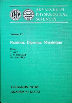 Nutrition Digestion Metabolism
