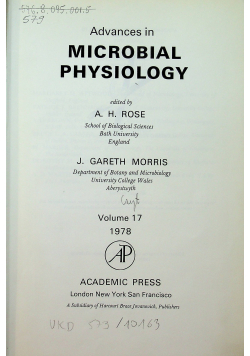Avances in microbial Physiology  vol 17