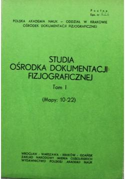 Studia Ośrodka Dokumentacji Fizjograficznej Tom I Mapy 10 - 22