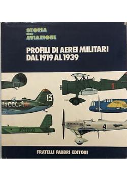 Profili di aerei militari dal 1919 al 1939