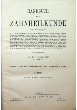 Handbuch der Zahnheilkunde 1922 r.
