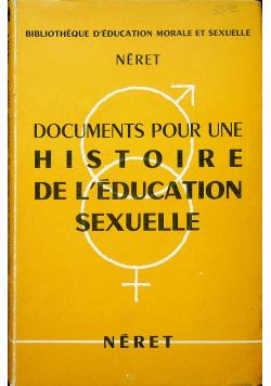 Documents pour une histoire de Leducation sexuelle