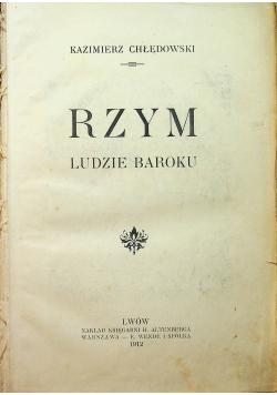 Rzym ludzie baroku 1912 r