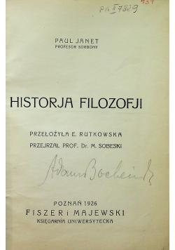 Historja Filozofji 1926r