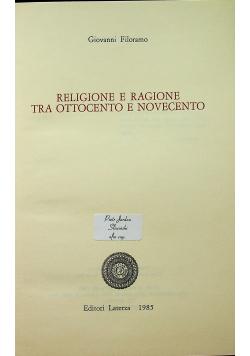 Religione e ragione tra ottocento e novecento