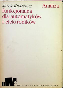 Analiza funkcjonalna dla automatyków i elektroników