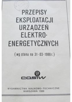 Przepisy eksploatacji urządzeń elektroenergetycznych