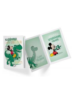 Karnet B6 DS-058 Urodziny Miki dinozaur