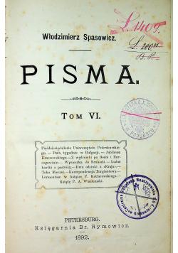 Pisma tom VI 1892 r