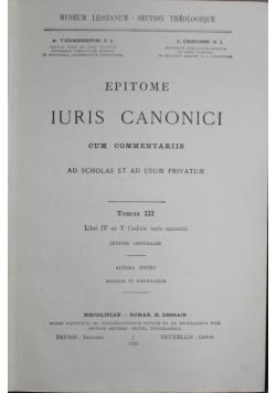 Iuris canonici  Tom III 1925 r.